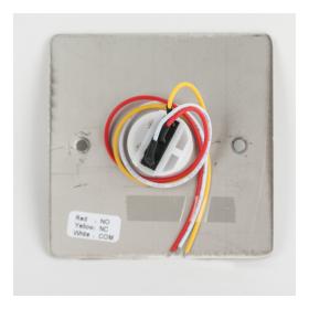 Buton incastrabil/aplicabil cu carcasa, NO/NC,  FMB-B-25SS-2-GN