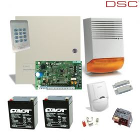 Kit sistem alarma antiefractie cu 8 zone, DSC PC1404