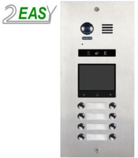 Post de exterior videointerfon 2Easy DMR21-D8-F1, modular, cu 8 butoane de apel si locas blank
