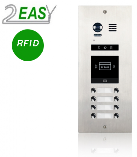 Post de exterior videointerfon cu 8 butoane de apel si RFID, 2Easy DMR21-D8-ID