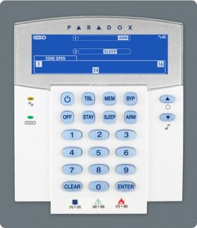 Tastatura LCD cu pictograme, pe fir, 32 zone, Paradox, K35