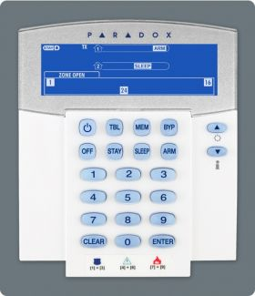 Tastatura LCD, wireless , 32 zone,transceiver 433Mhz, Paradox, K37