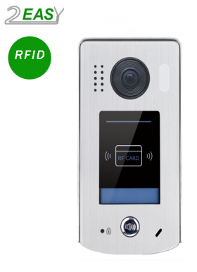 Post exterior video interfon 2Easy cu cititor de proximitate, RFID, DT611-ID-FE