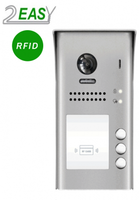 Post exterior videointerfon cu 3 butoane de apel si RFID, 2Easy DT607-ID-S3