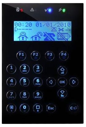 Tastatura LCD cu display grafic pentru centrale INIM SmartLiving Concept/Gx