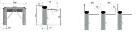 Turnicheți electromecanici și motorizați de tip tripod, Twister, CAME, PST002
