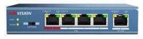 Switch 4 porturi PoE Hikvision, DS-3E0105P-E
