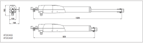 Automatizare porti batante 2x3m Came ATS 8K01MP-023