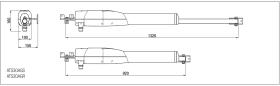 Automatizare porti batante 2x3m Came ATS 8K01MP-025