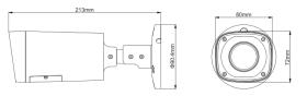 Dimensiuni/Schema Dahua HFW1200R-VF